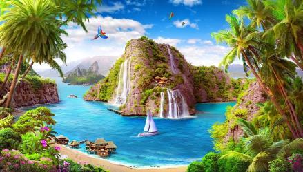 Paradise Beautiful Fantasy Wallpaper