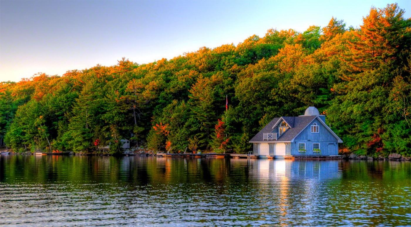Fall Cottage Wallpaper Summer Boathouse Wallpapers Wallpaper Cave