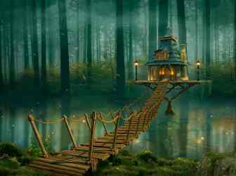 wallpapers fairy forest magic tree magica