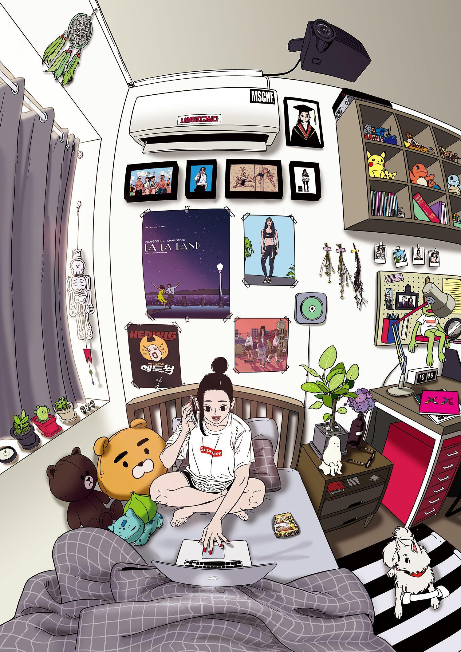 Anime Room Drawing : anime, drawing, Aesthetic, Anime, Wallpapers, Wallpaper