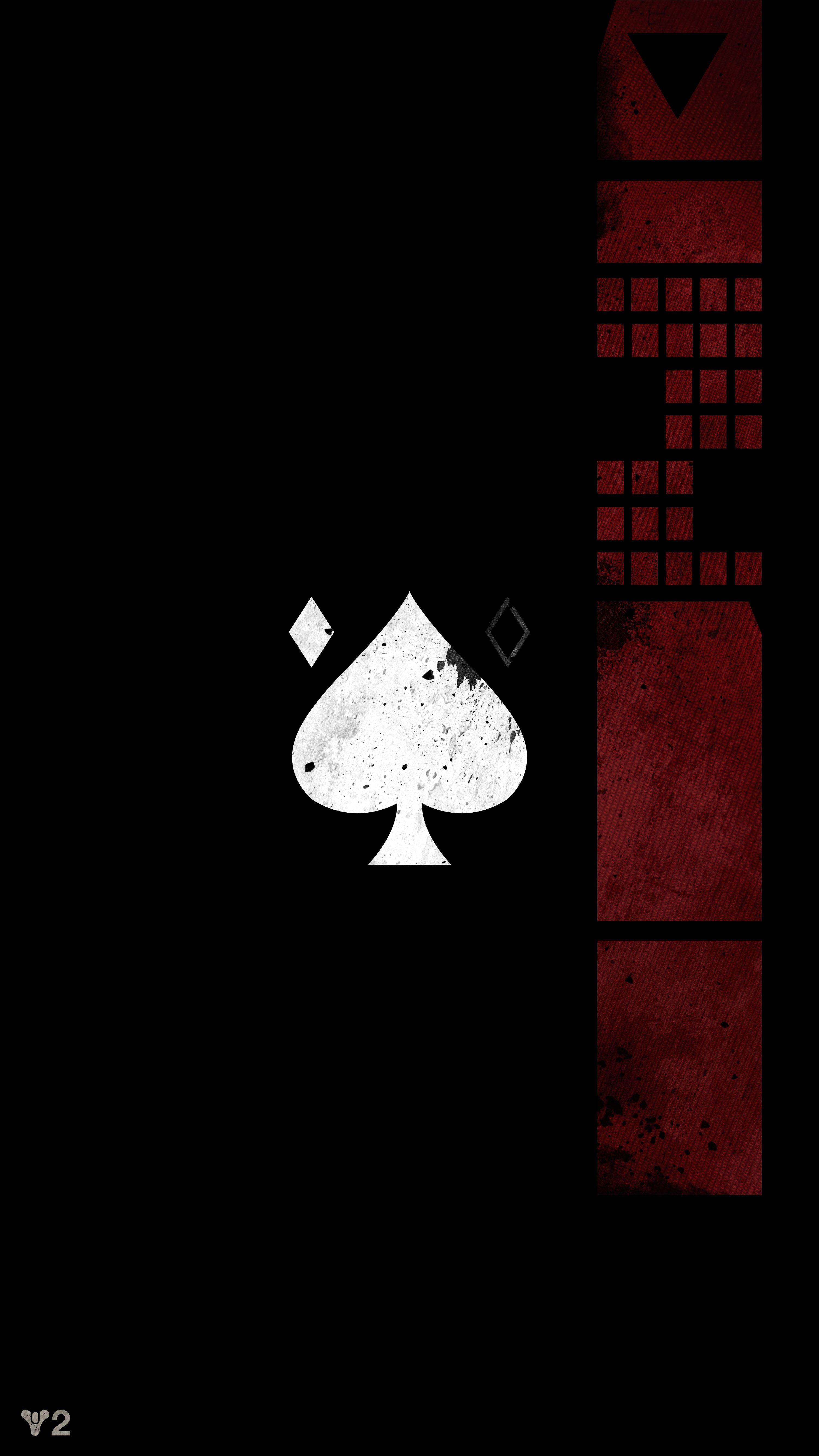 Ace Card Wallpaper : wallpaper, Spades, IPhone, Wallpapers, Wallpaper