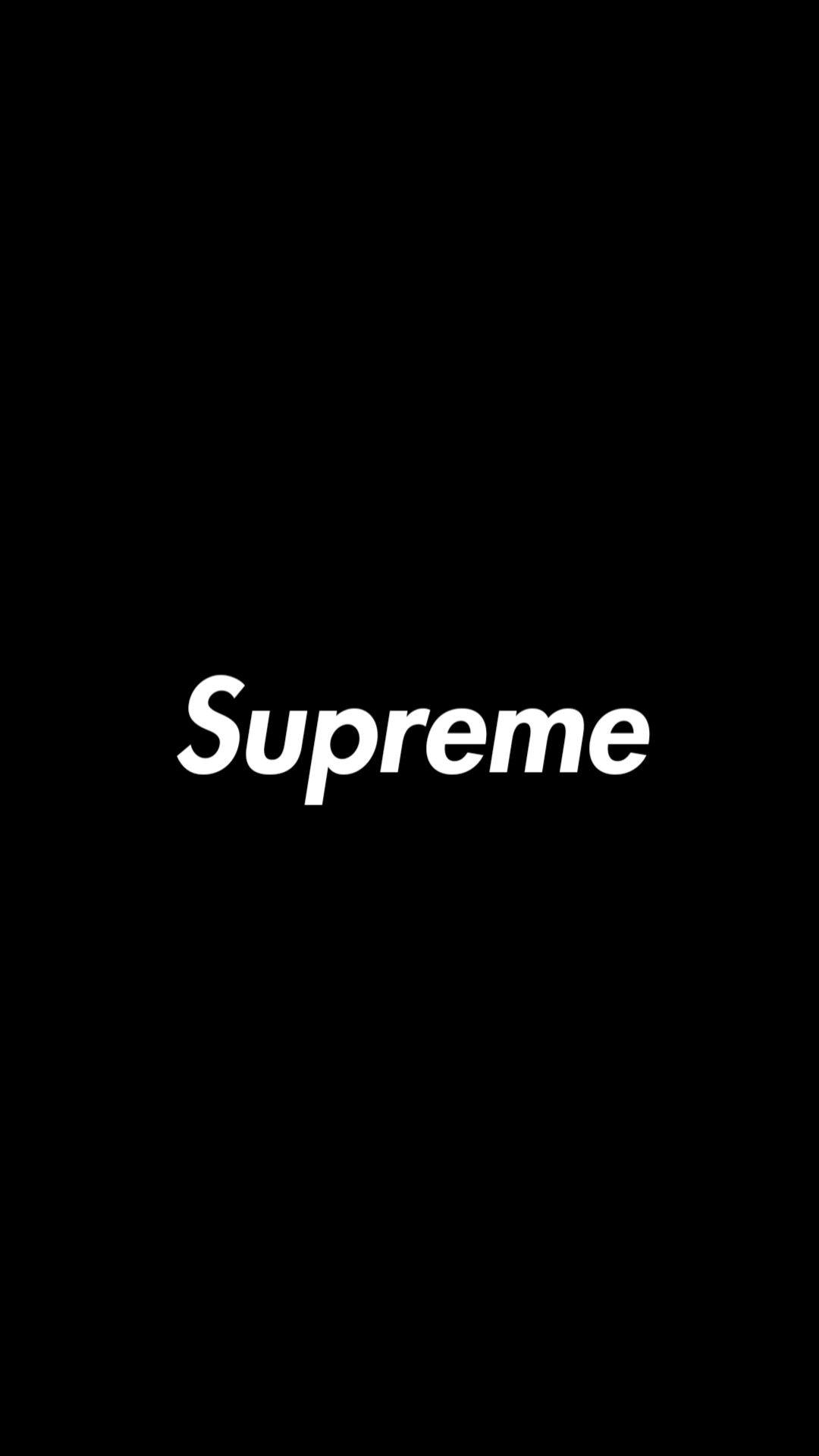 Supreme White Wallpaper : supreme, white, wallpaper, Supreme, Black, IPhone, Wallpapers, Wallpaper