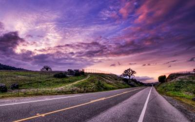 aesthetic road wallpapers landscape purple cave