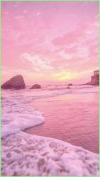 aesthetic pink sea wallpapers iphone