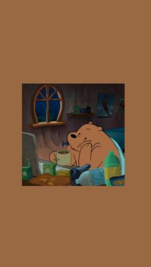 aesthetic brown wallpapers weheartit agustinmunoz iphone bear ios