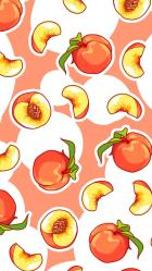 aesthetic food wallpapers fruit kawaii peach iphone backgrounds cute summer fruits drawing phone pattern quotes foods cartoon discover cave visit