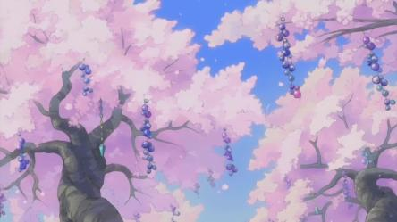 Aesthetic Pink Anime Background