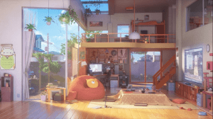 anime living wallpapers bedroom backgrounds scenery desktop aesthetic night sala apartment inside abyss kitchen building drawing gaming fondo pc welcome