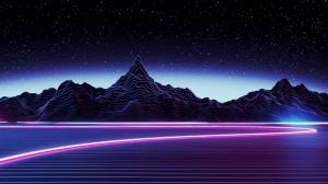 aesthetic wallpapers desktop landscape mountain neon 4k retro dark space computer midnight backgrounds purple pc athestic wallpaperaccess iphone nature 1080p