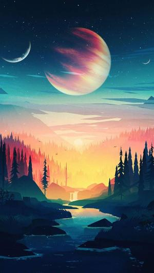 space aesthetic landscape wallpapers lost