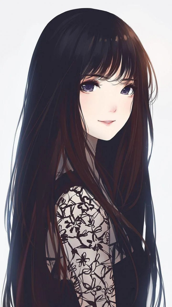 Cute Long Hair Anime Girl : anime, Anime, Wallpapers, Wallpaper