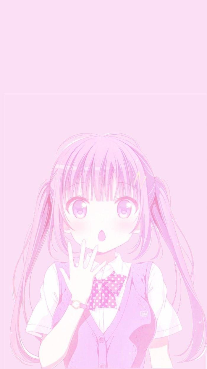 Pink anime wallpaper - SF Wallpaper