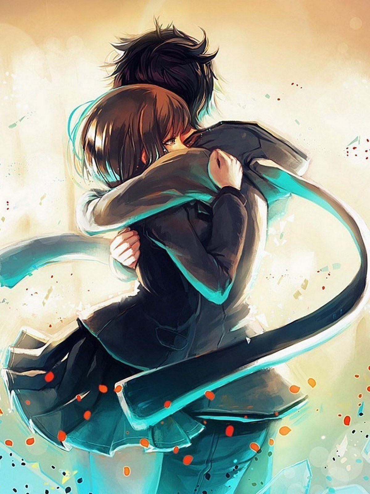 Anime Girl Hugging Boy : anime, hugging, Anime, Huging, Wallpapers, Wallpaper
