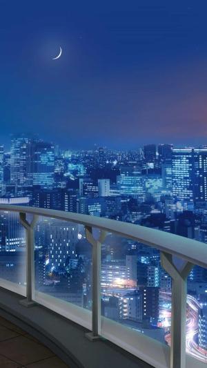 anime background backgrounds episode rooftop night scenery interactive wallpapers dreamz landscape wattpad manga screen uploaded user
