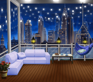 night balcony backgrounds cozy anime episode background interactive bedroom wallpapers ext story animation living party scenery episodelife choose fancy pc