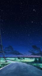 Stars Night Sky Anime Wallpapers Wallpaper Cave