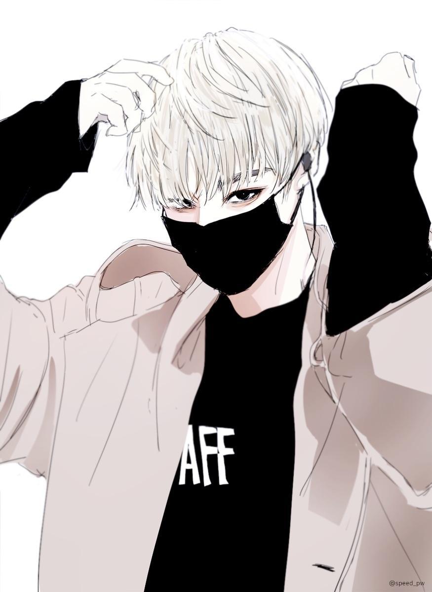 Anime Boy With Mask And Hoodie : anime, hoodie, Handsome, Anime, Wallpaper