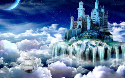 fantasy castle wallpapers cave