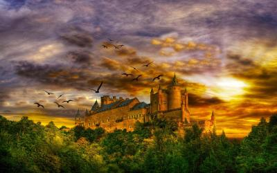 castle fantasy wallpapers mystical