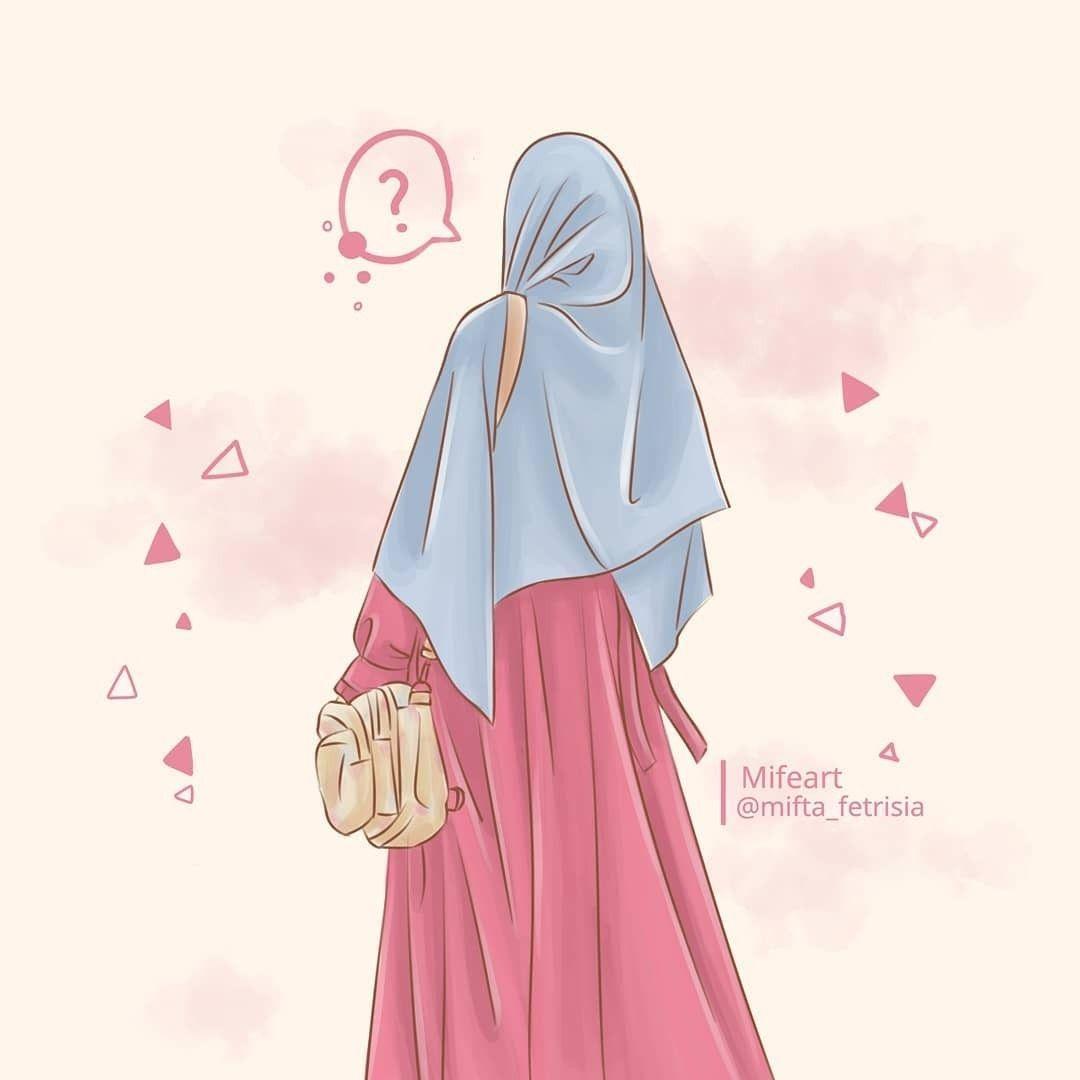 Wallpaper Anime Girl Cool Hijab Novocom Top