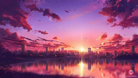 sunset anime wallpapers