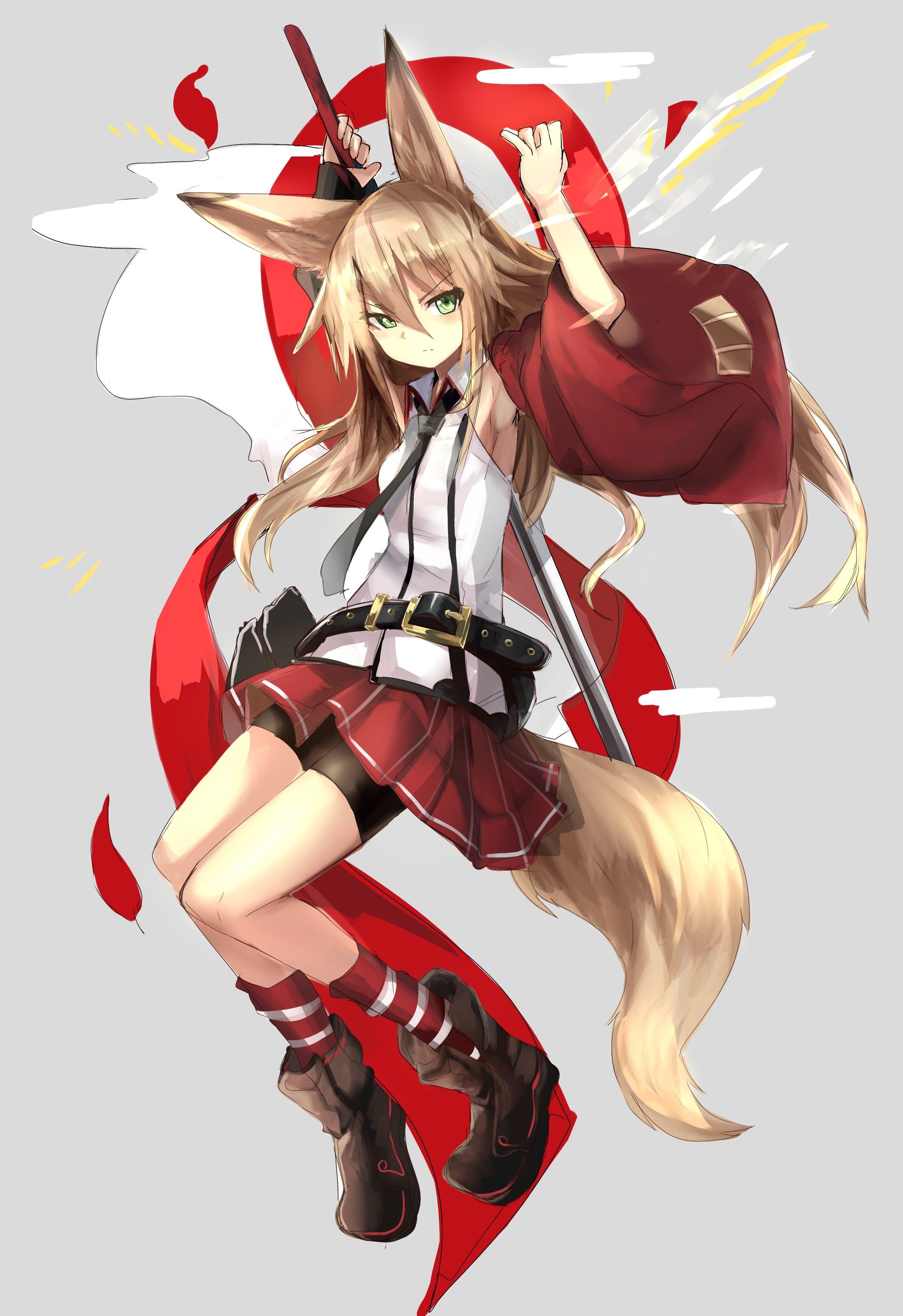 Anime Fox Girl Wallpaper
