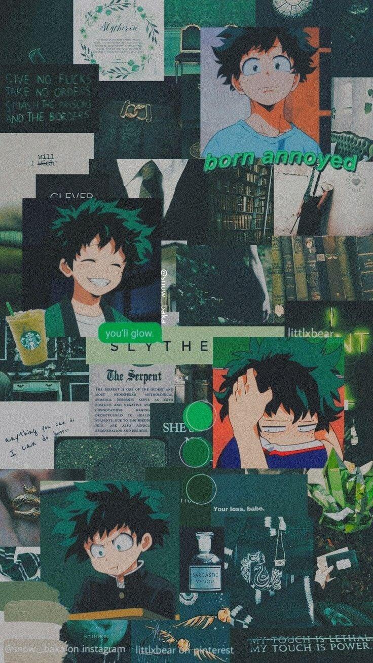 Aesthetic My Hero Academia Wallpaper : aesthetic, academia, wallpaper, Green, Anime, Wallpaper, Academia