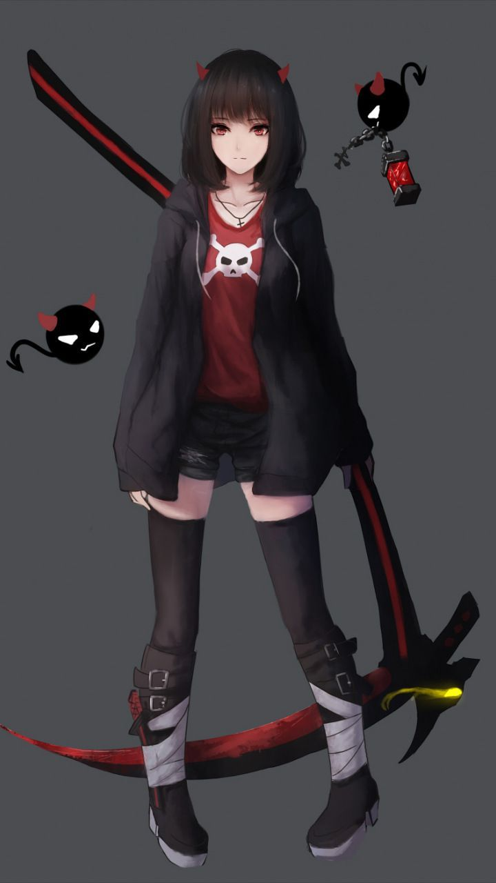 Red And Black Anime : black, anime, Black, Anime, Wallpapers, Wallpaper