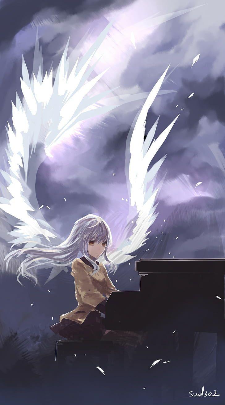 Angel Anime Wings : angel, anime, wings, Angel, Anime, Wallpapers, Wallpaper