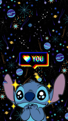 stitch iphone aesthetic wallpapers lilo disney glitch backgrounds heart hearts cave favimcom