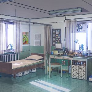 anime wallpapers office illustration arseniy chebynkin aesthetic ipad papers air flare aw93 1280 1024 ilovepapers desktop macbook cartoons 4k