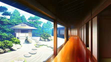 anime japanese wallpapers japan building hd cg scenic backgrounds cave konachan game wallpaperaccess