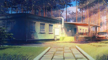 anime summer everlasting arsenixc backgrounds hd background cottage estate cabin wallpapers scenery 배경 area suburb log desktop rural arseniy chebynkin
