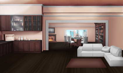 apartment anime backgrounds background room living episode open floor pink int interactive inside kitchen wallpapers episodelife google animation scenery aesthetic