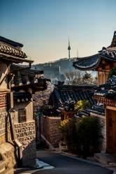 korea south aesthetic seoul wallpapers village korean hanok hd sky unsplash