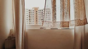 aesthetic brown beige desktop building daytime curtain wallpapers during unsplash window teahub io backgrounds through abandoned wooden inside board floral