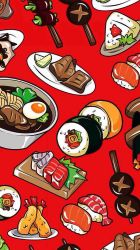 food sushi wallpapers anime iphone kawaii aesthetic background backgrounds wallpaperaccess app
