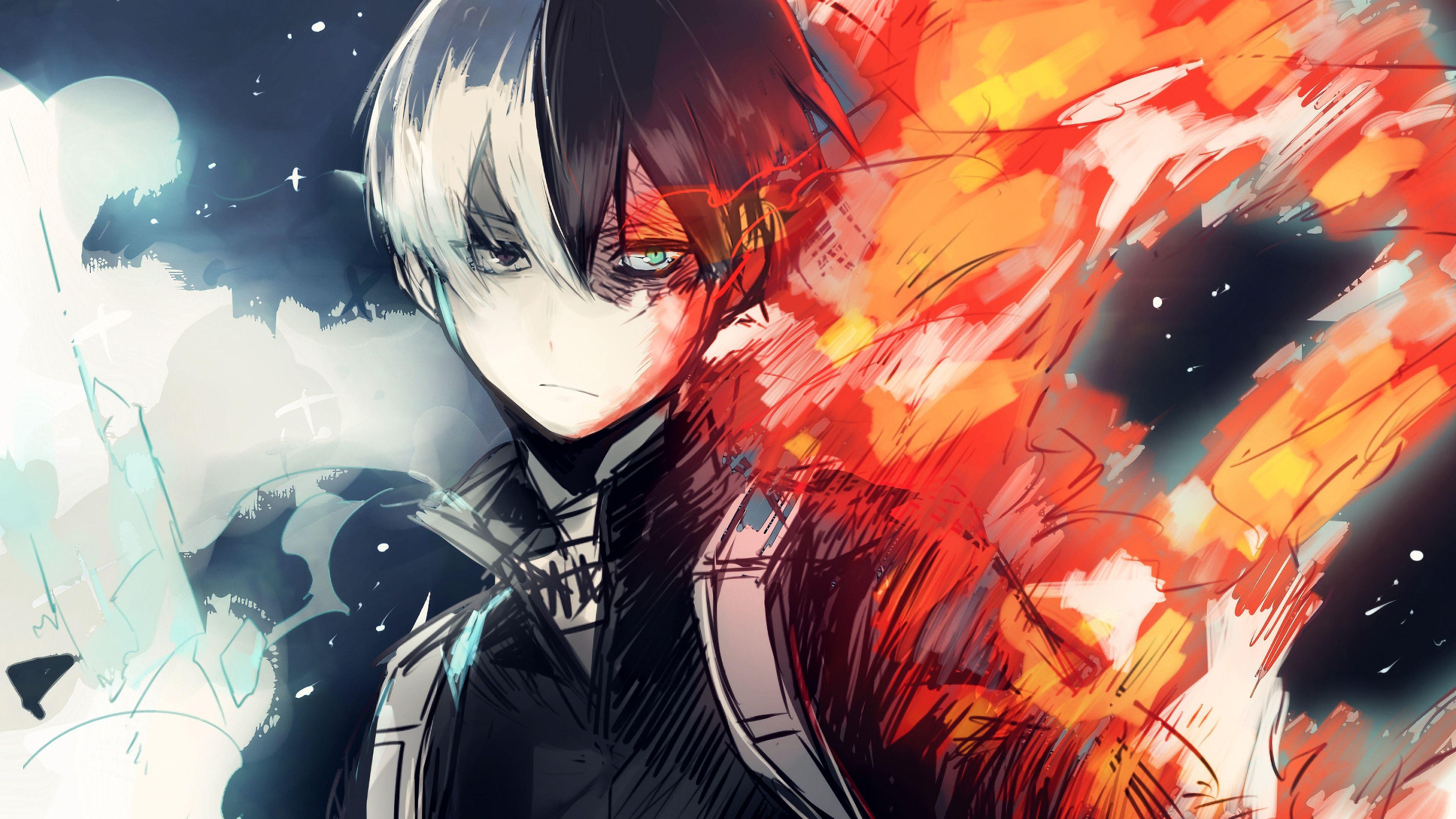 Uraraka deku shouto todoroki my hero academia hd anime 4k. Aesthetic Todoroki PC Wallpapers - Wallpaper Cave