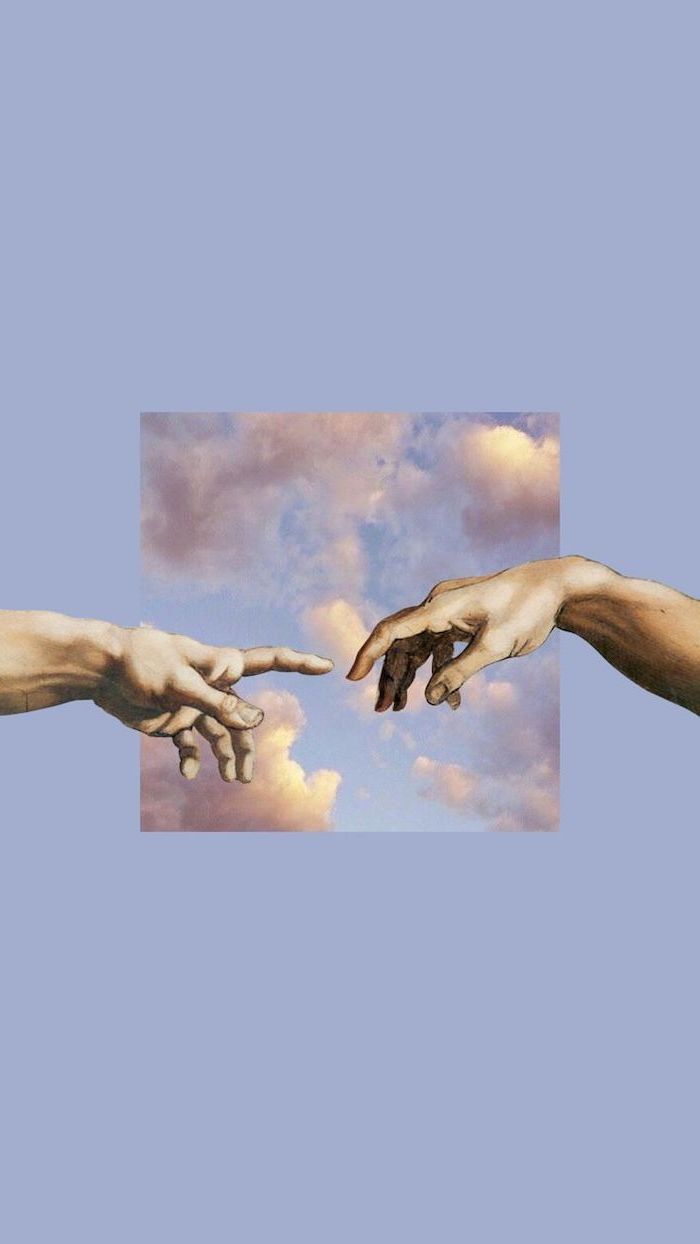 Hands Almost Touching Painting : hands, almost, touching, painting, Creation, Wallpapers, Wallpaper
