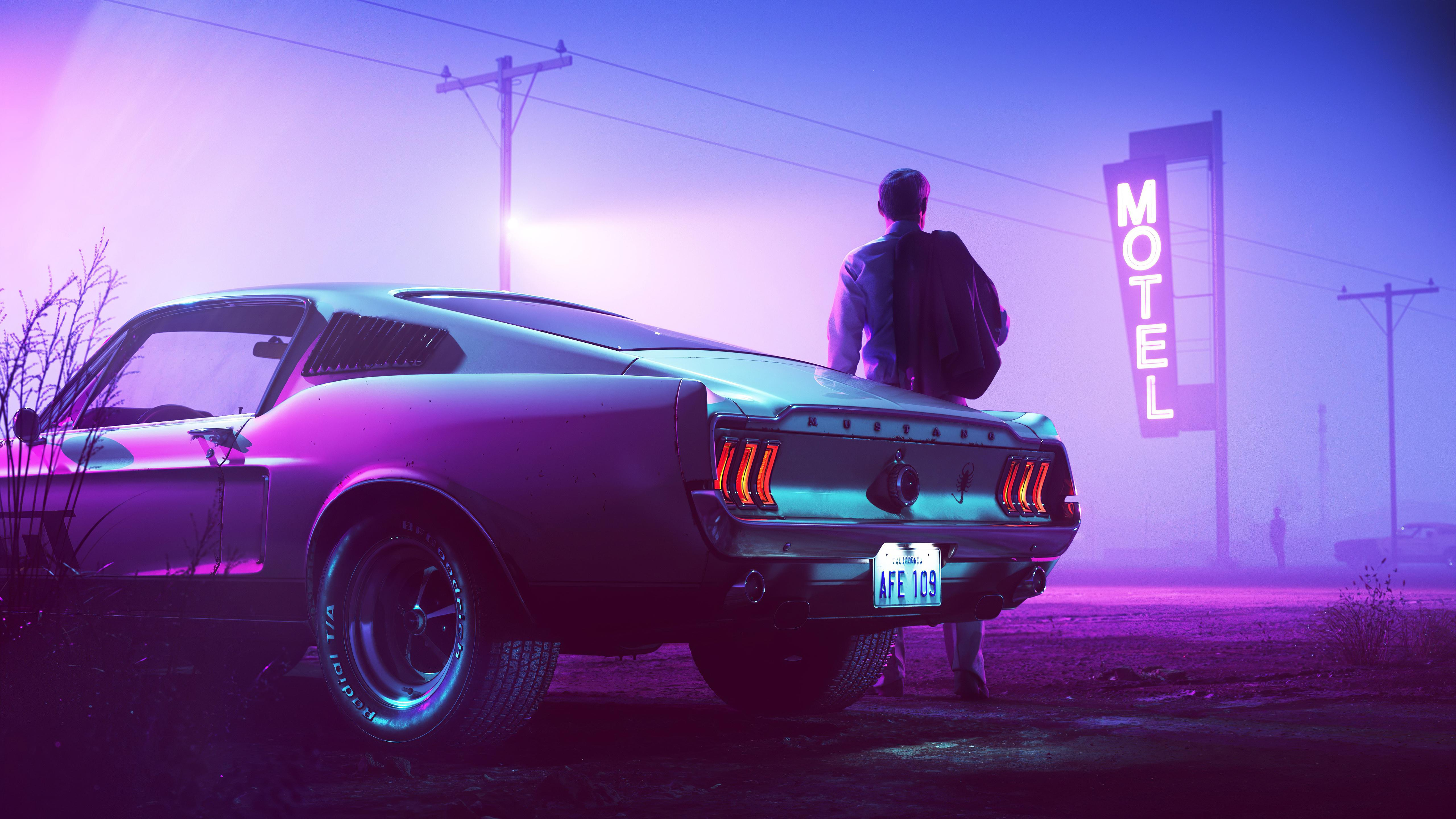 Whether you cover an entire room or a single wall, wallpaper will update your space and tie your home's look. Ps4 4k Hd Retro Car Wallpapers Wallpaper Cave