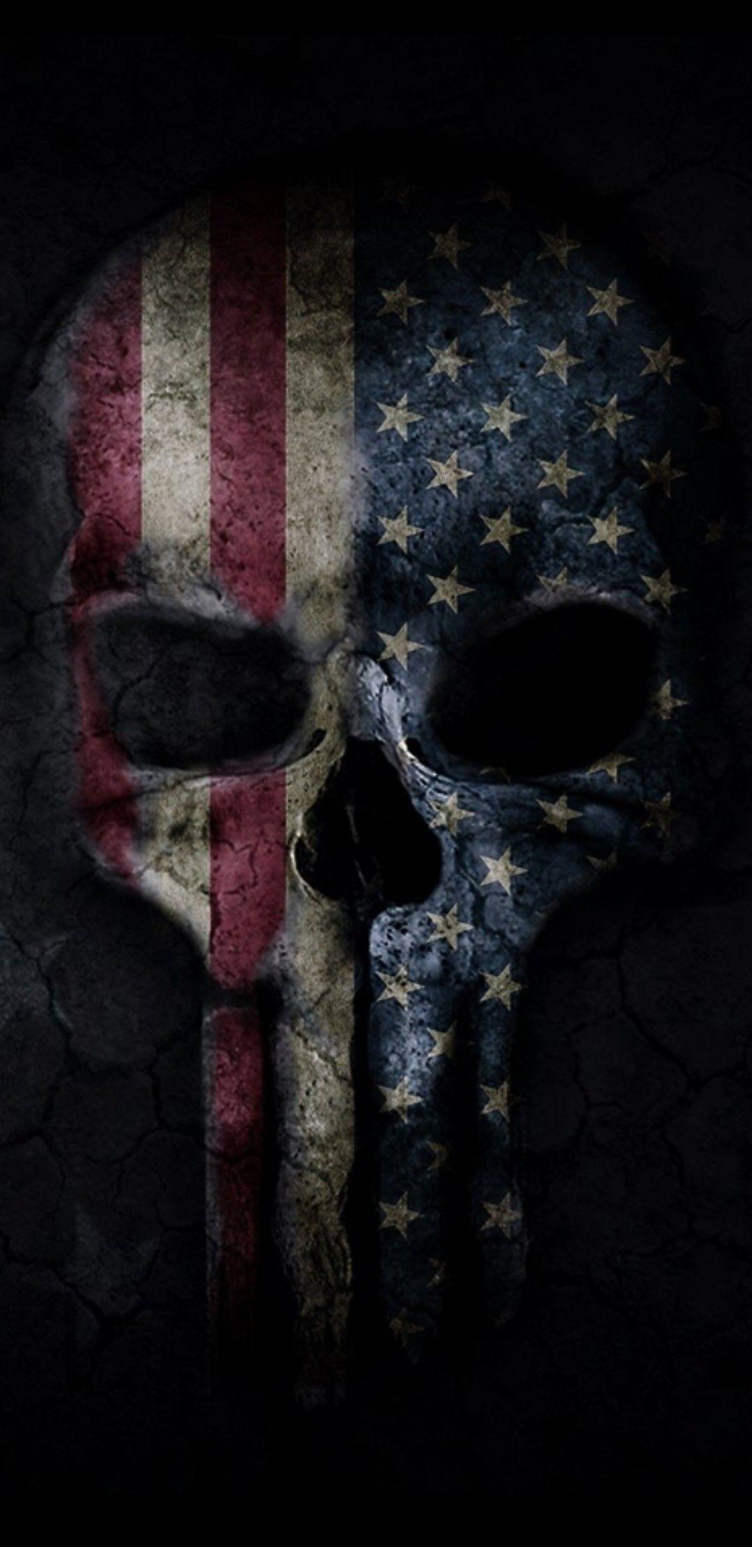 American Flag Skull Images, American Flag Skull Transparent PNG...