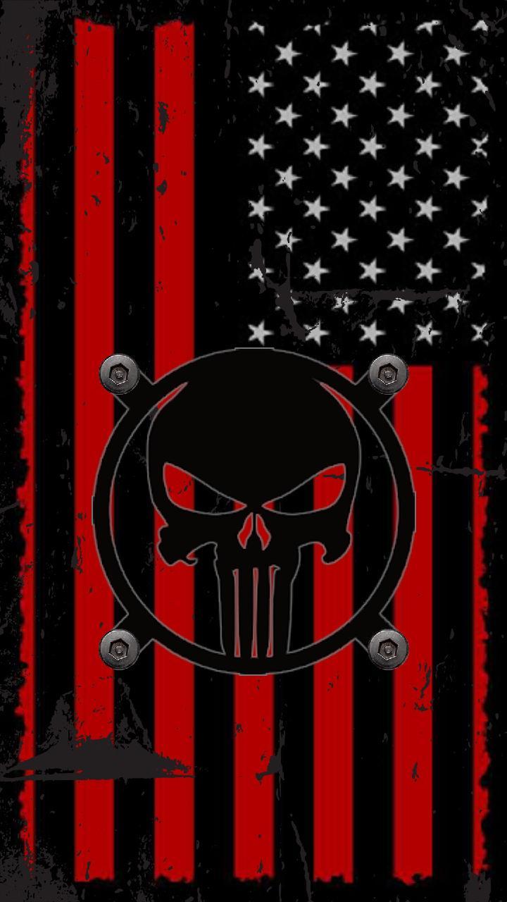 American Flag Skull Wallpaper : american, skull, wallpaper, American, Punisher, Wallpapers, Wallpaper