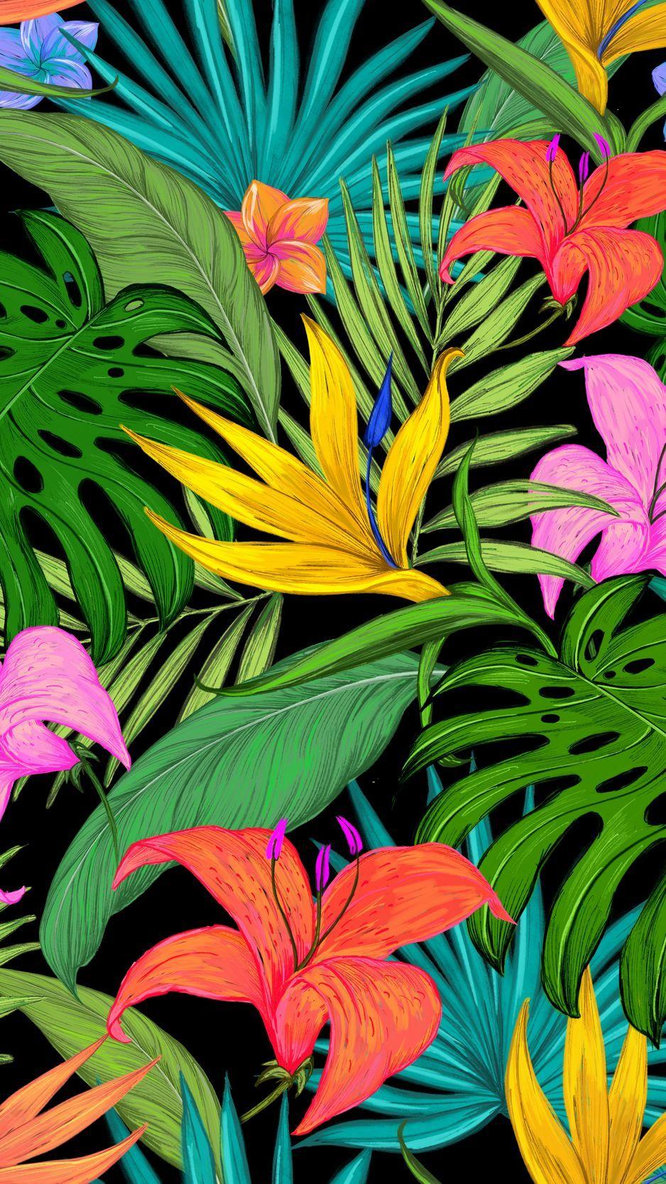 Tropical Leaves Iphone Wallpaper : tropical, leaves, iphone, wallpaper, Tropical, Leaves, Phone, Wallpapers, Wallpaper