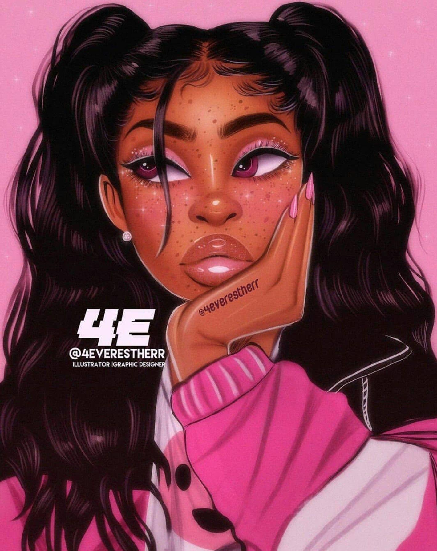 Black Girl Aesthetic Drawing : black, aesthetic, drawing, Black, Drawings, Wallpapers, Wallpaper