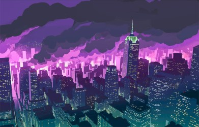 anime promare night wallpapers hd purple background backgrounds gemie quality itl cat cave scenery music ost reddit wall