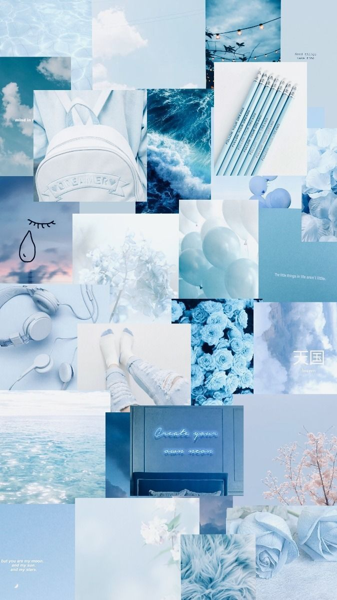 Blue Aesthetic Collage Wallpaper : aesthetic, collage, wallpaper, Aesthetic, Collage, Wallpapers, Wallpaper