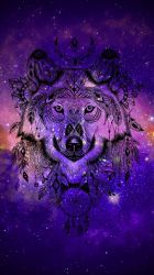 Galaxy Wolves Wallpapers Wallpaper Cave