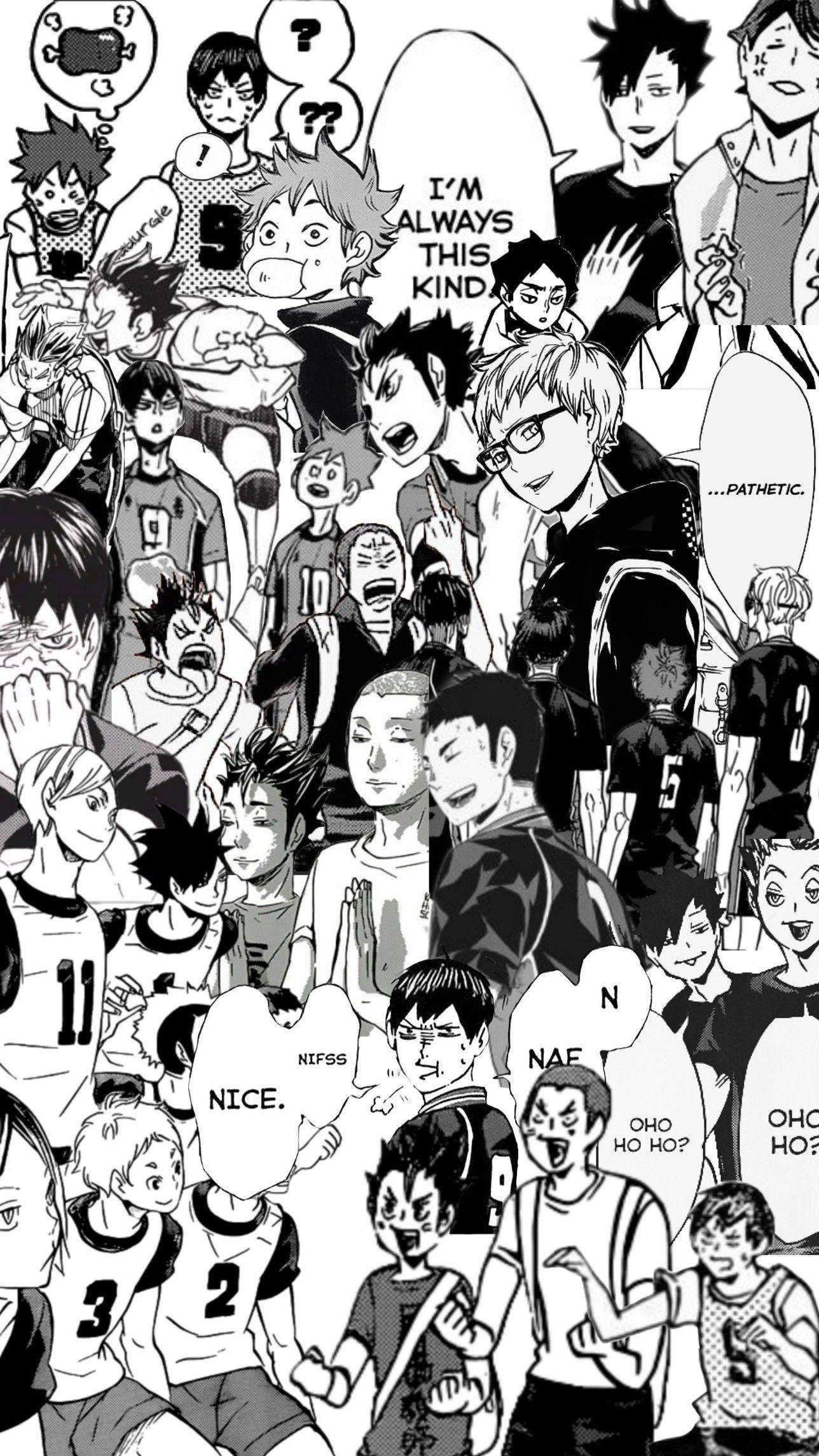 haikyuu manga panels desktop wallpaper