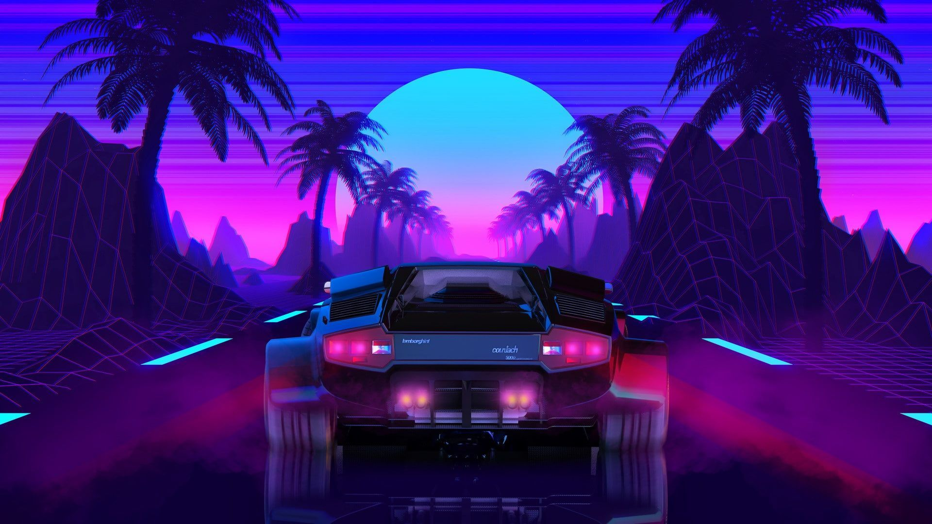 Whether you cover an entire room or a single wall, wallpaper will update your space and tie your home's look. 80s Car Retro Synthwave Wallpapers Wallpaper Cave