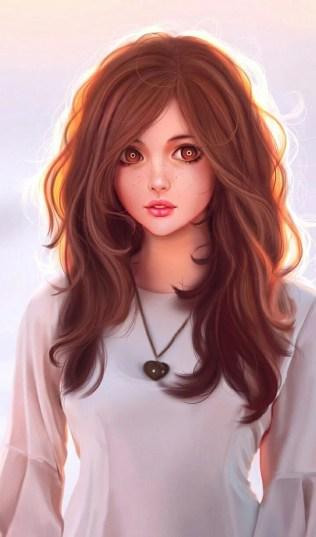 Beautiful Girl Cartoon Wallpapers - Wallpaper Cave